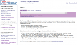American & English Literature Screenshot